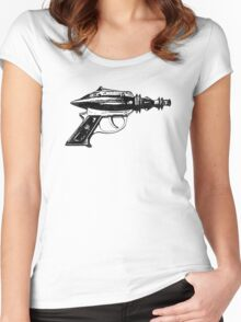 Raygun, Ray Gun, Space Gun, Science Fiction, Pistol Women's Fitted Scoop T-Shirt