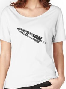 Rocketship, Space Ship, Rocket, Missile, Science Fiction Women's Relaxed Fit T-Shirt