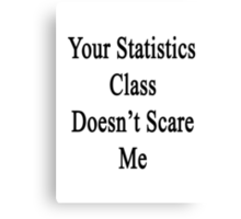 Your Statistics Class Doesn't Scare Me  Canvas Print