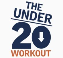 Under 20 Workout Orange/Blue Logo Baby Tee