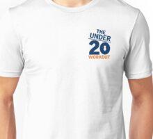Under 20 Workout Orange/Blue Logo Unisex T-Shirt