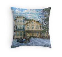 Restored Victorian - House Reborn Throw Pillow