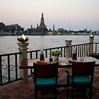Chakrabongse Villas view of Wat Arun by Ren Provo
