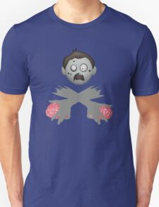 Zombie Head Crossed Arms & Brains T-Shirt