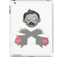 Zombie Head Crossed Arms & Brains iPad Case/Skin