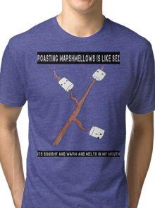 sex is like marshmallows! :D Tri-blend T-Shirt