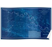 Civil War Maps 0860 Map of the battlefield of Chickamauga September 19th and 20th 1863 02 Inverted Poster