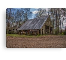 Old Barn & Tractor Canvas Print