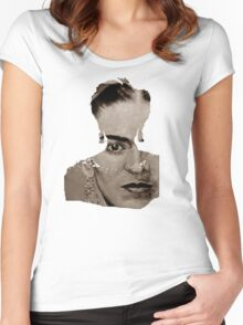 FRIDA KAHLO - sepia Women's Fitted Scoop T-Shirt