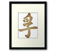 Truth Kanji Framed Print