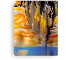 running soil.... land waterfall Canvas Print