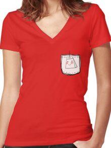 Teabag Women's Fitted V-Neck T-Shirt