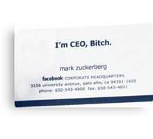 I'm CEO Canvas Print