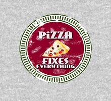 pizza fixes everything Womens Fitted T-Shirt