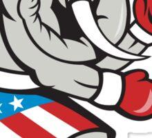 Elephant Mascot Boxer Boxing Side Cartoon Sticker