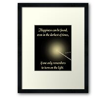 Harry Potter Happiness Quote Framed Print