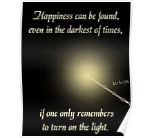 Harry Potter Happiness Quote Poster