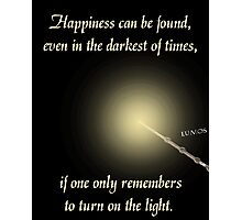 Harry Potter Happiness Quote Photographic Print