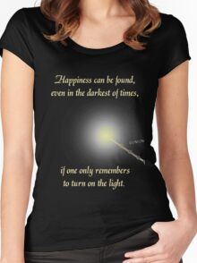 Harry Potter Happiness Quote Women's Fitted Scoop T-Shirt