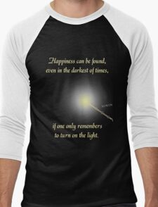 Harry Potter Happiness Quote Men's Baseball ¾ T-Shirt