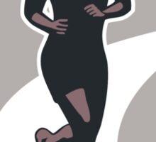 Female Marathon Runner Run Retro Sticker