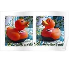 RNLI rubber duckies Poster