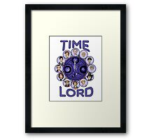 TIme Lord (blue version) Framed Print