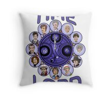 TIme Lord (blue version) Throw Pillow
