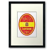 Euro 2016 Football - Espana Framed Print