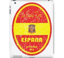 Euro 2016 Football - Espana iPad Case/Skin