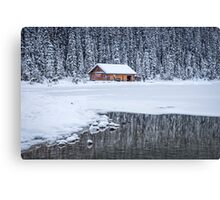 When It Snows Outside Canvas Print