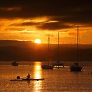Sunrise at Marieville Esplanade, Sandy Bay, Tasmania #4 by Chris Cobern