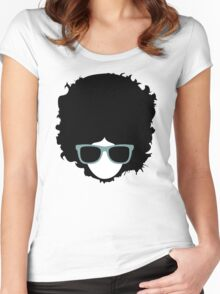 Hipster (wearing glasses) Women's Fitted Scoop T-Shirt