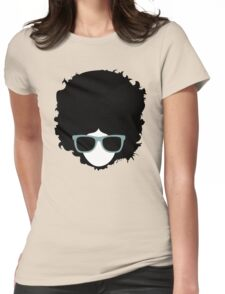 Hipster (wearing glasses) Womens Fitted T-Shirt