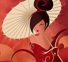 Sakura , Asian Geisha by LouJah-