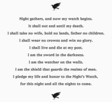 Game of Thrones Night's Watch oath by nofixedaddress