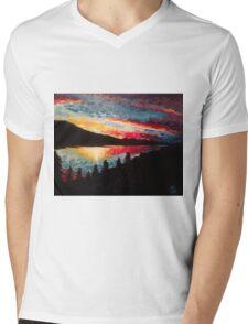 Horsetooth Resevoir Mens V-Neck T-Shirt