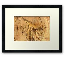 clockwork mechanism Framed Print