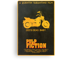 Zed's Dead - Pulp Fiction Poster Canvas Print