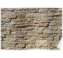 stone masonry fortress wall Poster