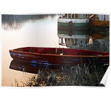 Lonely boat at rest. Graiguenamagh Kilkenny Ireland Poster