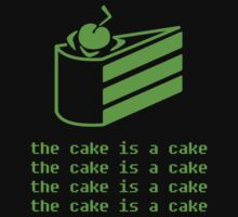 """THE CAKE IS A CAKE"" - Portaloo. by Slightly Wrong Quotes"