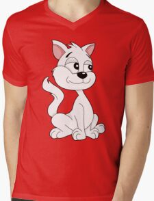 Cute cartoon kitten Mens V-Neck T-Shirt