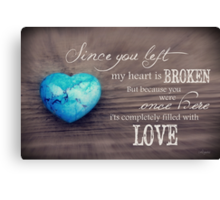 Broken Heart Full of Love Canvas Print