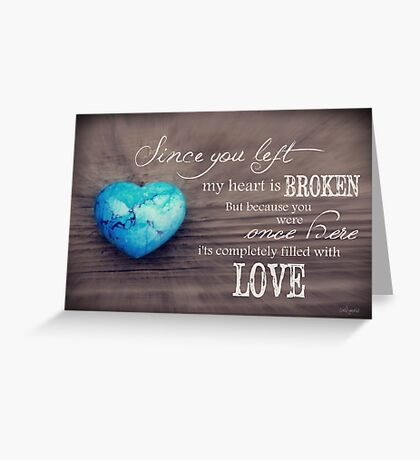Broken Heart Full of Love Greeting Card