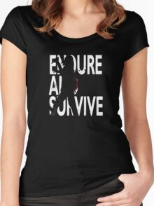 Endure And Survive Women's Fitted Scoop T-Shirt