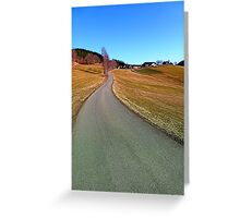 Country road through rural scenery | landscape photography Greeting Card
