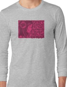 Headphone Girl Pink Long Sleeve T-Shirt