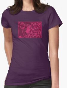Headphone Girl Pink Womens Fitted T-Shirt