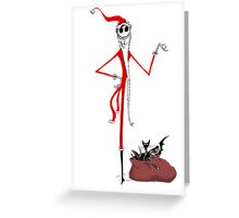 Sandy Claws - Nightmare before christmas Greeting Card